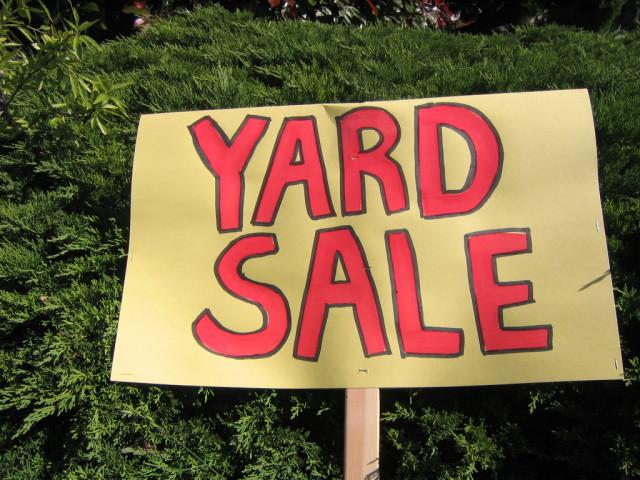 Yard Sale-ing