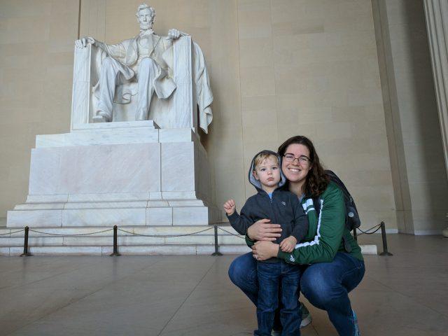 Tourists in Washington DC